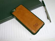 "schmale Designer Leder Schutz Hülle iPhone 6 (4,7"") Cover braun Bumper Case Etui"