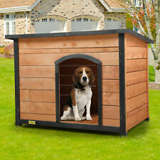 Wood Dog House for Large Dogs Weatherproof Outside Dog Kennel With flip-up Roof