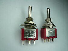 SX 1pc Toggle Switch Momentary+Latching SPDT ON/OFF/(ON) red MTS103S