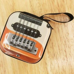 Retro Guitar Earbud Earphone Case Coin Purse