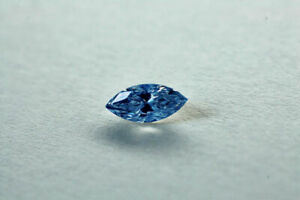 Loose natural Diamond Marquise 0.70 Ct (2 diamonds) Flawless Fancy Blue Color