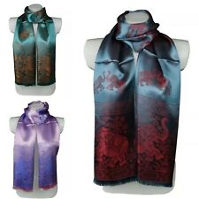 Elephant Design Satin Silky Large Ladies Scarf Shawl Wrap