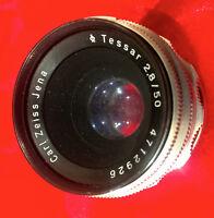 Tessar 2,8/50mm Carl Zeiss JENA  M42  - schraub - Classic-Camera-Store DRESDEN