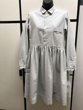 Veritecoeur Japan OS Cotton Pale Gray Chambray Collar Gather Bottom Dress