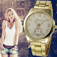 Fashion Women Men's Geneva Watch Stainless Steel Quartz Analog Sport Wrist Watch