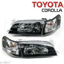 Toyota Corolla AE100 AE101 Sedan Wagon Front Black CRYSTAL Headlight Corner Lamp