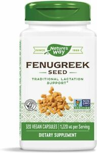 Natures Way Fenugreek Seed 100 Vegan Capsules Exp.6/30/22 NEW & SEALED