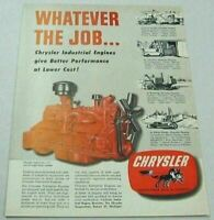 1951 Print Ad Chrysler Industrial Engines Whatever the Job