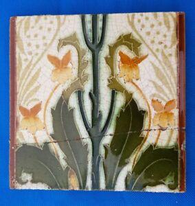 Antique Victorian Minton tile. Lewis Day?