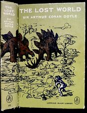 THE LOST WORLD By SIr Arthur Conan Doyle ~ Vintage Looking Glass 1959 1st Ed HC