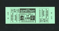VERY RARE 1970 MUHAMMAD ALI CASSUIS CLAY vs ROCKY MARCIANO boxing ticket w/pics