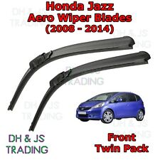 (08-14) Honda Jazz Aero Wiper Blades / Front Windscreen Flat Blade Wipers Mk2