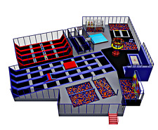 15,000 sqft Commercial Trampoline Park Ninja Rock Wall Dodgeball We Finance 100%