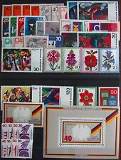 Germany Complete Year 1974 Stamp Set + C/Ds & Souvenir Singles MNH German Stamps