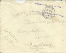 Great Britain MILITARY-WWI -WOUNDED SOLDIER''S LETTER/4th SCOTTISH GENERAL