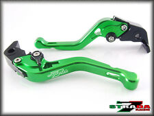 Strada 7 Short Adjustable CNC Levers Honda CB599 CB600 HORNET 1998 - 2006 Green