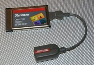 Xircom CreditCard Ethernet 10/100 PCMCIA PC Card CE3B-100BTX +Cable