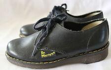 DR DOC MARTENS DM COLLEGE ~ Kids Black Leather Lace-Up School Shoes ~ NEW 10