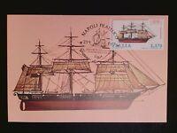 ITALIA MK 1977 SEGELSCHIFF SAILING SHIP MAXIMUMKARTE CARTE MAXIMUM CARD MC c8536