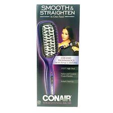 Conair Smooth & Straighten Straightening Brush With Ceramic Technology