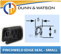 Rubber Pinchweld Edge Seal - (Small) 5mm Wide x 8mm Tall - Sold by the meter