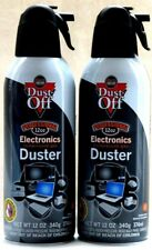 2 Dust-Off Profesional Electronics Compressed-Gas Duster Net Wt 12 Oz ea NEW!