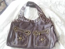 Helix brown studded bag - brand new