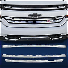 "Chrome Grille Overlay (3 PCS) FITS 2016-2018 Chevy Silverado 1500 ""LT Z71"" ONLY"