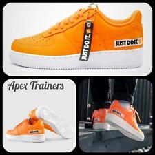 Nike Air Force 1 '07 LV8 JDI LTHR Trainers Sneakers UK 12 EUR 47.5 Orange/ White