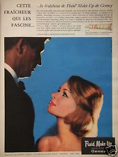 PUBLICITÉ 1960 GEMEY FLUID MAKE-UP MAQUILLAGE HYDRATANT- ADVERTISING