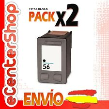 2 Cartuchos Tinta Negra / Negro HP 56XL Reman HP Officejet 5610