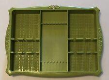 New listing Vintage Profile by Oneida Flatware Tray Holder Organizer Avocado Green Plastic