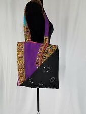 Handmade African Ankara Danshiki Rhinstone Tote Bag Hand Bag Women Fashion Pures