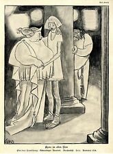 Karl Arnold Szene im alten Rom Schwabinger Brauerei Karneval Karikatur 1913/15