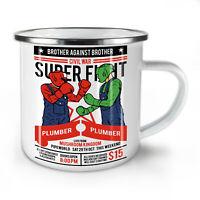 Plumber Fight NEW Enamel Tea Mug 10 oz | Wellcoda
