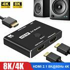 Mini HDMI 2.1 8K@60Hz 4K@120Hz Converter 2in 1out Splitter Directional Switcher