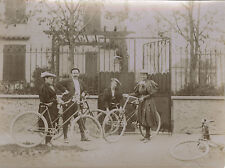 PHOTO ANCIENNE - VINTAGE SNAPSHOT - VÉLO BICYCLETTE MODE VILLEMOMBLE - BIKE 1895