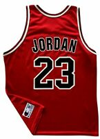 Vtg 1990's Michael Jordan Chicago Bulls CHAMPION Screened Basketball Jersey 48