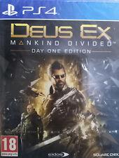 DEUS EX MANKIND DIVIDED. DAY ONE EDITION. JUEGO PS4. NUEVO, PRECINTADO.