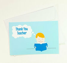 5 Thank You Teacher Greeting Cards for Appreciation Book Cute Thanks TEACHER33