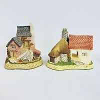 """David Winter Cottages Lot of 2 """"The Cobbler & The Pottery"""" with COA's"""