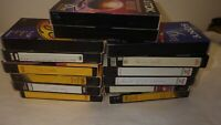 Lot Of 14 Pre-Recorded Mix Label T-120  VHS Tapes Sold As Is Used Blanks Lot BD