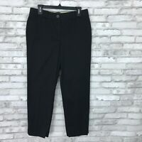 Talbots Womens 6 Perfect Crop Chino Pants Stretch Mid Rise Straight Leg Black