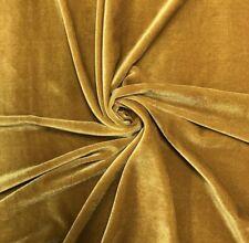 STRETCH GOLD VELVET COSTUME / CRAFT DRESS FABRIC 58
