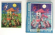 Vintage Victory Wood Jigsaw Puzzle by GJ Hayter Mouse Mice 20pc England #7052