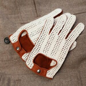 Omega Napoli Tan String-back Driving Gloves Mens / Unisex Vintage-style