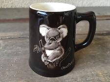 Coffee Mug Cup Australia Koala Bear The Little Sydney Aussie Pottery Black Tan