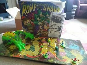 ROMP THRU' THE SWAMP Electronic Monster Game By Vivid Games. Complete & Working