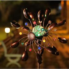 New ListingLarge Metal Wind Spinner Solar Garden Yard Art Decor Windmill Sculpture Statue