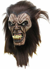 Morris Costumes Unisex Halloween Wolfman Over The Head Latex Hair Mask. TB26482